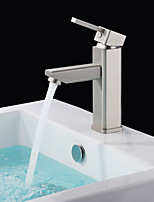 Shengbaier Morden Nickel Brushed Finish Solid Brass Bathroom Sink Faucet