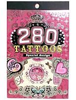 280PCS King horse Temporary Tattoo Stickers Non Toxic/Pattern/Glitter/Hawaiian/Waterproof Jewelry Flower Totem