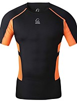 Super Fit Fasion Bright Color High Elastic Fitness Runing and Cycling T-Shirt Male