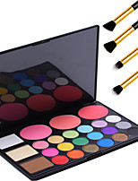 Pro 24 Colors Composite Palette with 18 Eyeshadow 3 Concealer 3 Blusher Makeup Kit Set+4PCS Pencil Makeup Brush