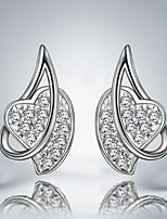 Boucle - en Plaqué Argent - Mignon/Soirée/Tous les jours - Boucles d'oreille goujon