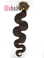 20inch 0.5g/s 100s Pre-bonded Keratin Nail U Tipped Remy Human Hair Extensions Color #04 Medium Brown 50g