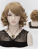 European And American Fashion Strawberry Blonde Hair Streaked High Quality Synthetic Wigs