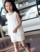 Girl's Hollow Chiffon Stitching Dresses