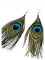 Women's Bohemian Ethnic Peacock Feather Earrings
