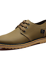 Men's Shoes Party & Evening Leather Oxfords Yellow/Green/Khaki