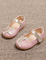 Girls' Shoes Dress/Casual Comfort/Round Toe/Closed Toe Faux Leather Flats Pink/Silver/Gold