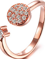 Women's Silver/Rose Gold Ring With Cubic Zirconia