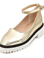 Women's Shoes Synthetic Chunky Heel Mary Boat Shoes Casual Silver/Gold