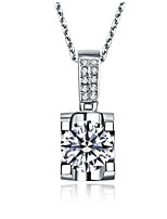 Oxhead Pendant 1CT Sterling Silver Engagement Gift for Women SONA Simulate Diamond Pendant 925 Necklace Platinum Plated