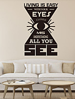 Wall Stickers Wall Decals Style Living Is Easy with Your Eyes English Words & Quotes PVC Wall Stickers
