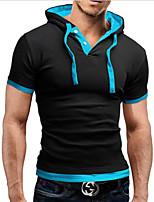Men's Spell Color Slim Hooded T-Shirt