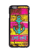 Personalized Gift Live-Life and Anchor Design Aluminum Hard Case for iPhone 6