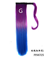 Ombre Clip in Drawstring Ponytail Hair Extensions for Women
