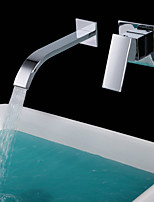 Shengbaier Contemporary Brass Waterfall Bathroom Sink Faucet