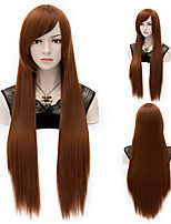 European Style Fashion Long Straight Hair Repair The Face of High-Quality Synthetic Wigs