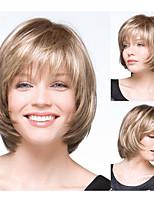 Frauen bobo Frisuren blonde gerade synthetische Perücken