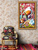 E-HOME® Framed Canvas Art, Flowers And Birds Framed Canvas Print