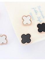 Golden Alloy Stud Earrings
