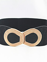 Women Fashion Han Edition Party/Casual Leather Faux Leather Wide Belt