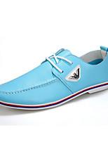 Men's Shoes Office & Career/Casual Faux Suede Oxfords Black/Blue/White