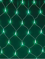 5W 1.5x1.5 Meter 96pcs LED Net Light with AC110-220V Input PVC Transparent, Green Color