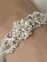 Pulseras y Brazaletes Encanto Plata/Aleación Cristal/Perla artificial De mujeres