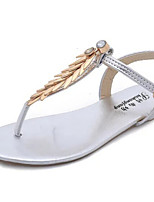 Women's Shoes Flat Heel Toe Ring Sandals Dress Silver/Gold