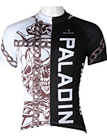 PaladinSport Men's Short Sleeve Cycling Jersey New Style The Chain Skeleton DX296 100% Polyester