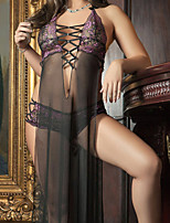 Hot Sexy Lingerie Night Gown Women's Underwear Sheer Lace Robe Babydoll String Cross G-string Panty Thong 2010