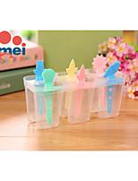 6pcs bricolaje helados paletas de hielo del molde del molde (color al azar)