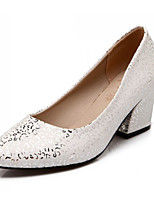 Zapatos de mujer Cuero Sintético Tacón Robusto Tacones Pumps/Tacones Oficina y Trabajo/Casual Rosa/Blanco