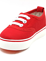 Girls' Shoes Casual Round Toe Fabric Flats Black/Blue/Red/White