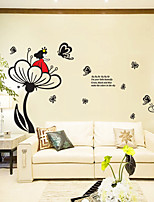 Wall Stickers Wall Decals Style Flower Princess PVC Wall Stickers