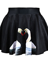 Women's Fashion Print High Waist Tulle Skirts