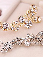 European Style Fashion Rhinestone Butterfly Single Earrings