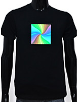 Rechargeable Battery Included Light Up LED EL T-shirt Rainbow Adjustable Sound Activated and Multiple Flashing Modes