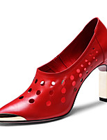 Women's Shoes Komanic Leather Chunky Heel Leather  Pointed Toe Pumps Shoes Office More Colors available