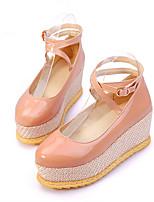 Women's Shoes Wedge Heel Creepers Pumps/Heels Office & Career/Dress/Casual Black/Red/Beige/Khaki