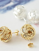 Korean Version Of The Hot Metal Wool Balls Earrings