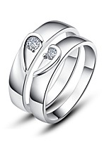 Couples' Silver Ring With