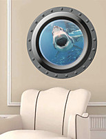 3D Wall Stickers Wall Decals, Submarine Style PVC Wall Stickers