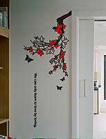 Wall Stickers Wall Decals, Modern Branches of flowers and butterflies PVC Wall Stickers