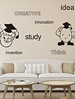 Wall Stickers Wall Decals Style Creative Idea PVC Wall Stickers