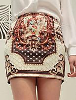 xiw&F Women's Vintage/Bodycon  Mini Skirts