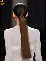 Unprocessed Indian Remy Human Hair Cuticle Intact Straight Ponytail 16inch-22inch Natural Black Can be dye