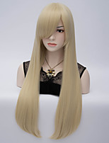 European and American Wind Hair End Adduction High Temperature Long Straight Hair Silk Wig # 613 c