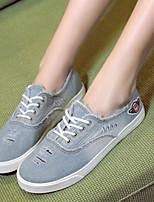 Scarpe Donna - Ballerine / Sneakers alla moda - Tempo libero / Casual - Comoda / Ballerina / Punta arrotondata - Piatto - Denim -Blu /