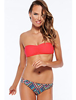 Women's Sexy Ruched Bandeau Bikini
