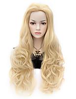 Sexy Women Long Wavy Blonde Hair Party Wig+wig Cap